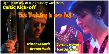 Celtic harp workshops Thursday july 18
